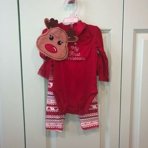 My First Christmas 3 piece set 3-6m
